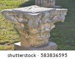 historical artefact of roman... | Shutterstock . vector #583836595