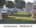 ancient ruins of roman forum in ... | Shutterstock . vector #583836619