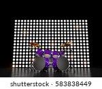 purple drum set against the... | Shutterstock . vector #583838449