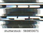 television screen with static... | Shutterstock . vector #583853071