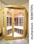 interier of a sauna | Shutterstock . vector #583857091