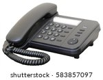 the image of telephone | Shutterstock . vector #583857097
