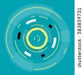 abstract round high tech... | Shutterstock .eps vector #583859731