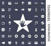 walk of fame star icon. movie... | Shutterstock .eps vector #583860931