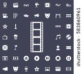 the film icon. movie set of... | Shutterstock .eps vector #583860961