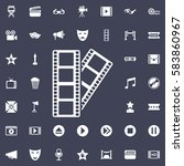 the film icon. movie set of...   Shutterstock .eps vector #583860967
