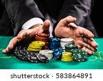 casino  gambling  poker  people ... | Shutterstock . vector #583864891