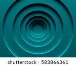 cyan vortex abstract background ... | Shutterstock . vector #583866361