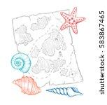 hand drawn vector illustration  ... | Shutterstock .eps vector #583867465