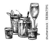 hand drawn vector illustration  ... | Shutterstock .eps vector #583867591