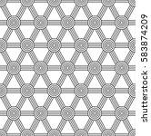 seamless geometric vector... | Shutterstock .eps vector #583874209