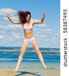 beach sport champion    Shutterstock . vector #58387495