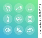 medical icons set in linear... | Shutterstock .eps vector #583879819