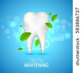 whitening tooth ads  with mint... | Shutterstock .eps vector #583886737