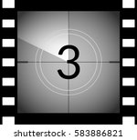old film movie countdown frame. ... | Shutterstock .eps vector #583886821
