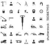 jackhammer icon. construction... | Shutterstock . vector #583887955