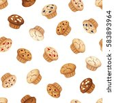 vector seamless pattern with... | Shutterstock .eps vector #583893964