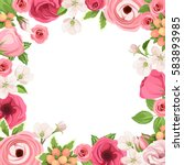 vector background frame with... | Shutterstock .eps vector #583893985