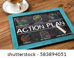 action plan chart with keywords ... | Shutterstock . vector #583894051