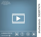 film strip with play   vector... | Shutterstock .eps vector #583897474