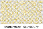 set of yellow translucent drops ... | Shutterstock .eps vector #583900279