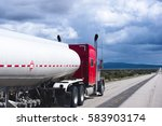 red powerful classic big rig... | Shutterstock . vector #583903174