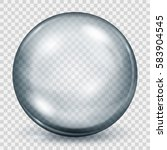 big translucent gray sphere... | Shutterstock .eps vector #583904545