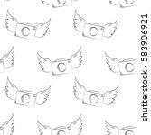 photo camera seamless pattern.... | Shutterstock .eps vector #583906921