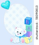 blue design with teddy bear and ...   Shutterstock .eps vector #58390813