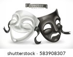 black and white theatrical... | Shutterstock .eps vector #583908307