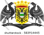 groningen city coat of arms ... | Shutterstock . vector #583914445