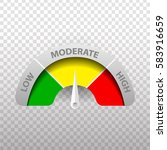 vector realistic rating meter... | Shutterstock .eps vector #583916659