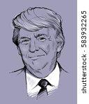 february 21  2017  portrait of... | Shutterstock .eps vector #583932265