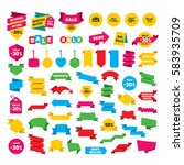 web stickers  banners and... | Shutterstock . vector #583935709