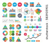 business charts. growth graph.... | Shutterstock . vector #583935901