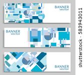 business banners set isolated...   Shutterstock .eps vector #583943011