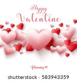 happy valentines day background ... | Shutterstock . vector #583943359