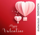 happy valentines day greetings... | Shutterstock . vector #583943374