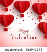 happy valentines day greetings... | Shutterstock . vector #583943395