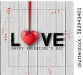 happy valentine's day...   Shutterstock . vector #583943401