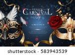 venice carnival poster  two... | Shutterstock .eps vector #583943539