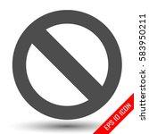 prohibition sign. prohibition... | Shutterstock .eps vector #583950211
