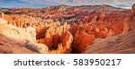 bryce canyon panorama  sunset... | Shutterstock . vector #583950217