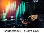 double exposure businessman and ... | Shutterstock . vector #583951321