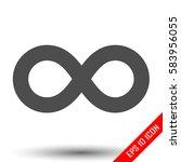 infinity icon. simple flat logo ...