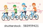 biker family. happy holiday and ... | Shutterstock .eps vector #583959421