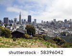 downtown san francisco and... | Shutterstock . vector #58396042