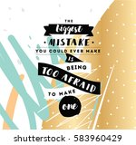 inspirational quote about... | Shutterstock .eps vector #583960429