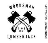 lumberjack logo and badge... | Shutterstock .eps vector #583962634