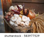 thai cuisine ingredients   | Shutterstock . vector #583977529